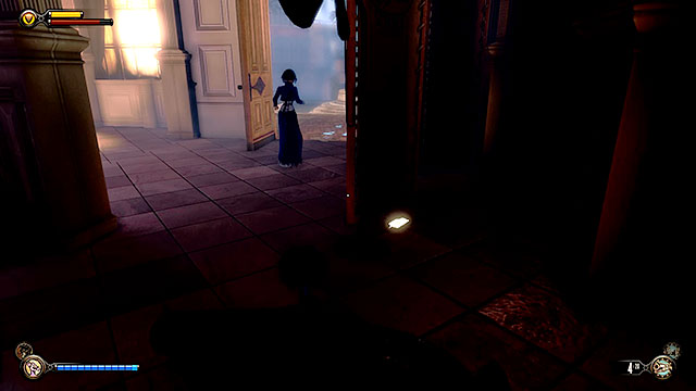 Find a lockpick in a dark corner near the entrance, behind a screen - Find the three tears - Chapter 31 - Memorial Gardens - BioShock: Infinite - Game Guide and Walkthrough