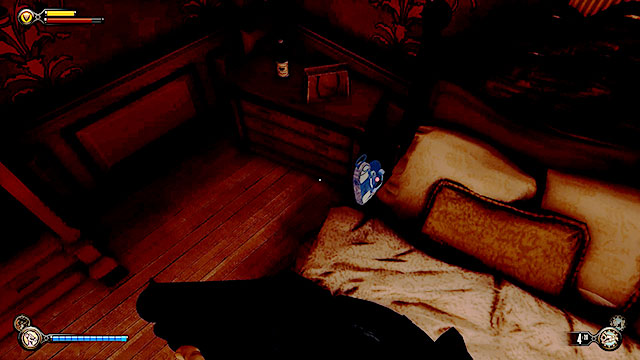 Go to the next room, but instead of heading directly towards the Lutece machine use the stairs leading to the first floor - Find the three tears - Chapter 31 - Memorial Gardens - BioShock: Infinite - Game Guide and Walkthrough