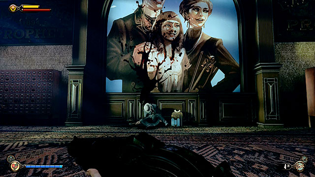 Go to the next room with a large painting on the wall - Find the next tear - Chapter 31 - Memorial Gardens - BioShock: Infinite - Game Guide and Walkthrough