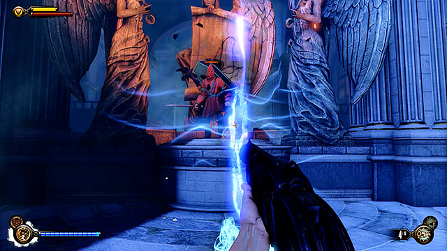 Approaching a tear located in the vault will result in a red Raven appearing behind it - Find the next tear - Chapter 31 - Memorial Gardens - BioShock: Infinite - Game Guide and Walkthrough