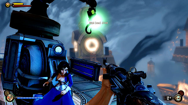 Once youre ready to move on with the mission enter the barge and start it by pulling a lever located at its beak - Board Prophet Comstocks zeppelin - Chapter 36 - Hand of the Prophet - BioShock: Infinite - Game Guide and Walkthrough
