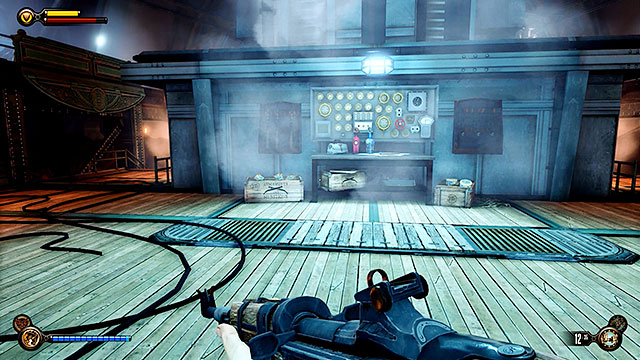 Explore the area near the entrance to this deck to find rifles, Volley Guns and other resources - Find a way to the top deck - Chapter 38 - Engineering Deck - BioShock: Infinite - Game Guide and Walkthrough