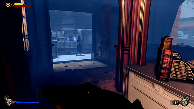 Market District - inside a locked store located to the right of the Lutece Lab - Chapters 30-31 - Gear - BioShock: Infinite - Game Guide and Walkthrough