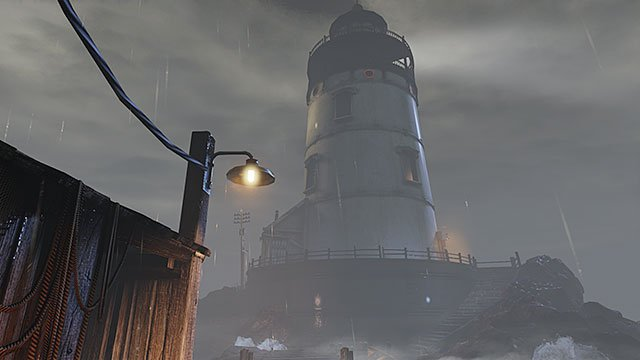Your first order of business after arriving on the island is reaching the top of the lighthouse, because thats where a transport will be waiting for you - Reach the top of the lighthouse - Chapter 1 - The Lighthouse - BioShock: Infinite - Game Guide and Walkthrough