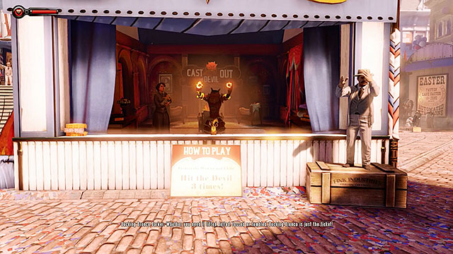 The fair contains several shooting ranges - Go to the Monument Island and find the girl - Chapter 2 - Welcome Center - BioShock: Infinite - Game Guide and Walkthrough