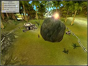 One of the first quests from the silver scroll is removing a boulder from a peasants garden - LAND ONE - quests - Black and White 2 - Game Guide and Walkthrough