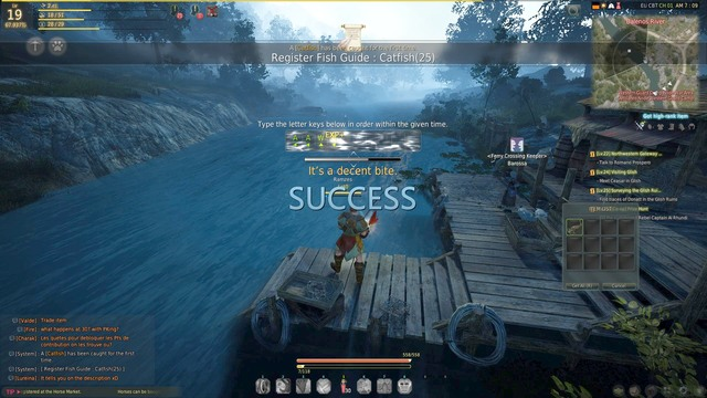 The minigame of fishing - Fishing - Activities - Black Desert Online - Game Guide and Walkthrough