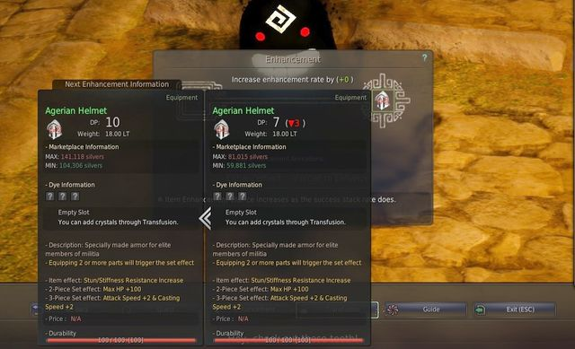 Enhancement & Transfusion | Game mechanics - Black Desert