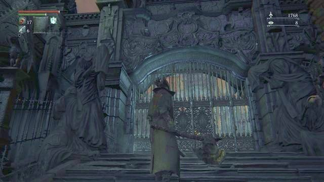how to open the main gate in cathedral ward in bloodborne faq
