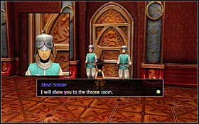 After the scene talk to the king once more - Jibral - Disc 1 - Blue Dragon - Game Guide and Walkthrough