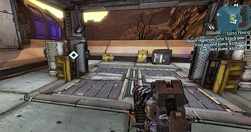 After getting there, use the elevator from the above screenshot which will take you to the underground - Data Mining - Main missions - Borderlands 2 - Game Guide and Walkthrough