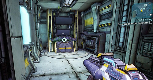 After destroying the robot, use the elevator [9] and head towards the data base [10] - Data Mining - Main missions - Borderlands 2 - Game Guide and Walkthrough