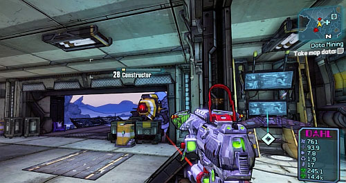 After Using the terminal, you will be attacked by two Constructors - Data Mining - Main missions - Borderlands 2 - Game Guide and Walkthrough