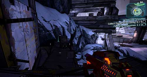 The next one is on the elevation on the left [4] - The Cold Shoulder - Sanctuary part 2 - Borderlands 2 - Game Guide and Walkthrough
