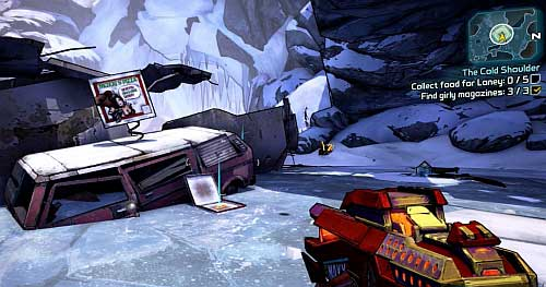 Your next objective is finding five Pizza pieces - The Cold Shoulder - Sanctuary part 2 - Borderlands 2 - Game Guide and Walkthrough