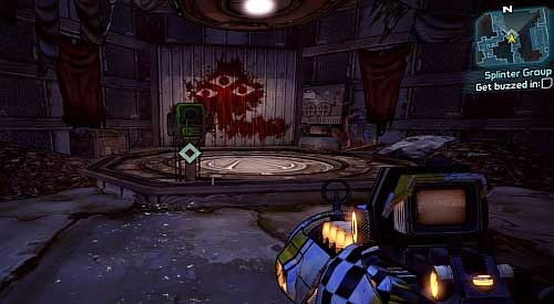 Keep heading onwards and eliminating enemies until you reach a hatch shown above - Splinter Group - Sanctuary - Borderlands 2 - Game Guide and Walkthrough
