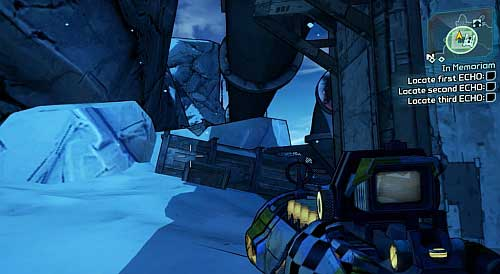 Another ECHO Recorder can be found in the southern part of the map [5] - In Memoriam - Sanctuary - Borderlands 2 - Game Guide and Walkthrough