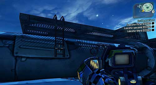 Turn right and jump onto the above ladder - In Memoriam - Sanctuary - Borderlands 2 - Game Guide and Walkthrough