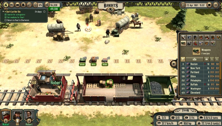 A bandit camp - Comparison of profitable activities | Transportation - Transportation - Bounty Train Game Guide
