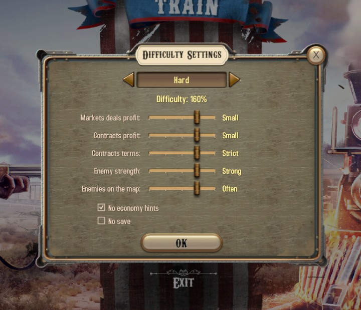 This guide has been prepared for the difficult settings - Difficulty level | Hints - Hints - Bounty Train Game Guide