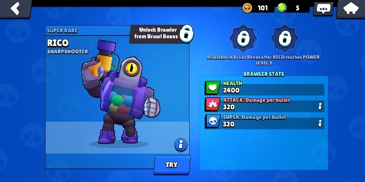 Rico can be obtained from boxes - Rico | Characters in Brawl Stars - Character list - Brawl Stars Guide