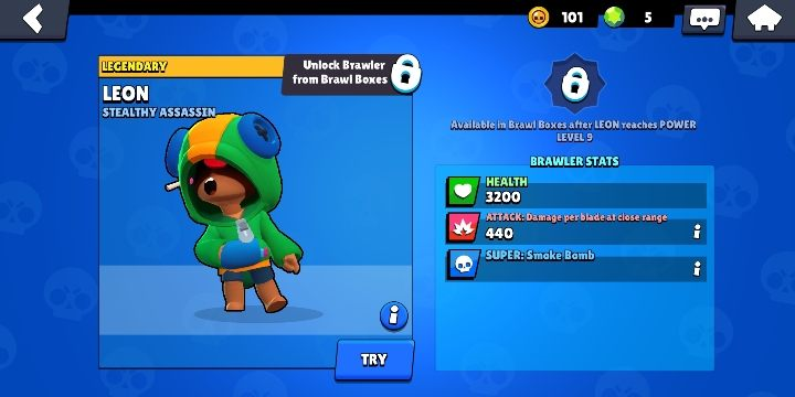 Leon can be obtained from boxes - Leon | Characters in Brawl Stars - Character list - Brawl Stars Guide