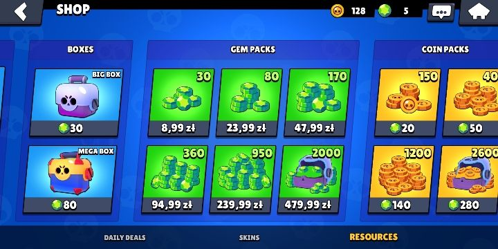 You can buy gem packages in the micropayment shop - How to earn gems in Brawl Stars? - FAQ - Brawl Stars Guide