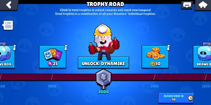 The Trophy road is a great place where you can get a lot of interesting things - Whats the game all about in Brawl Stars? - Basic Information - Brawl Stars Guide