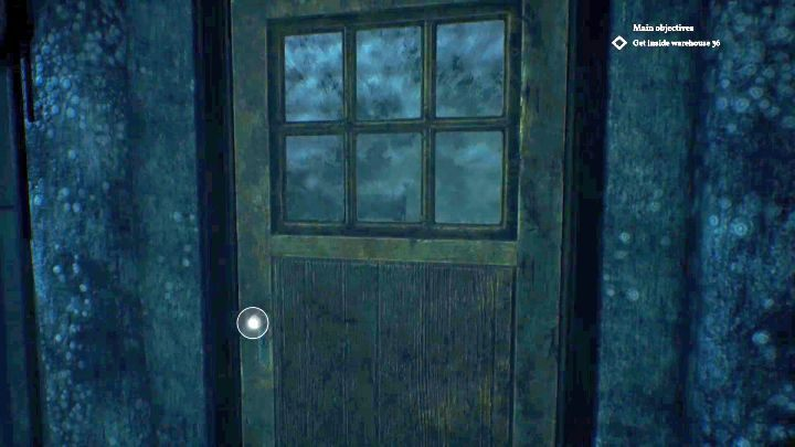 Entrance of the house where the liquor is located. - How to get past the guards in Darkwater of Call of Cthulhu? - FAQ - Call of Cthulhu Guide