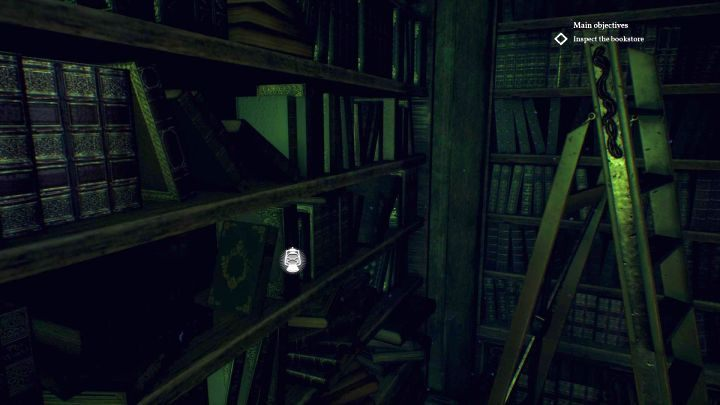 Here, you can find a hidden book that increases Occult. - Chapter 7 - Nameless Bookstore | Call of Cthulhu Walkthrough - Walkthrough - Call of Cthulhu Guide