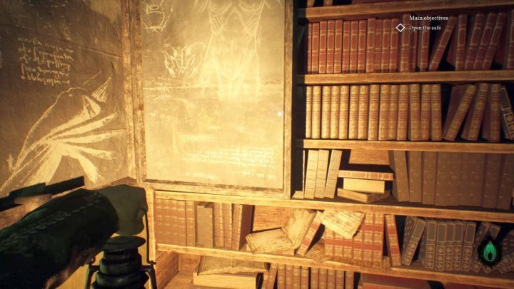 The secret compartment, behind which the phonograms are hidden. - Chapter 7 - Nameless Bookstore | Call of Cthulhu Walkthrough - Walkthrough - Call of Cthulhu Guide