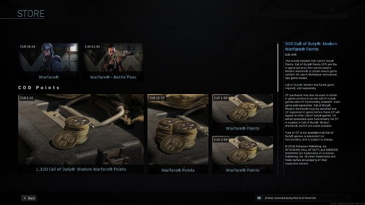 Здесь стоит отметить, что вы не можете тратить очки наложенного платежа на что-либо, что дает игроку преимущество над противниками во время матча в Call of Duty Warzone - Warzone: Магазин - Основы - Руководство по Warzone