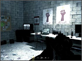 After rushing into the first building, locate a small room, next to the room where weapons of destruction are kept - Intel Data - part 1 - Intel Data - Call of Duty 4: Modern Warfare - Game Guide and Walkthrough