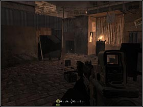After walking through a hole in a fence you will get on a bazaar - Intel Data - part 1 - Intel Data - Call of Duty 4: Modern Warfare - Game Guide and Walkthrough