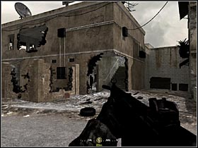 When a tank starts shooting at the enemies in a narrow alley, go to the right and find a building with a hole in the wall (see the picture) - Intel Data - part 2 - Intel Data - Call of Duty 4: Modern Warfare - Game Guide and Walkthrough