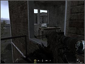 After killing a guard standing on the top of the stairs, walk up and get through the window to a small room - Intel Data - part 2 - Intel Data - Call of Duty 4: Modern Warfare - Game Guide and Walkthrough