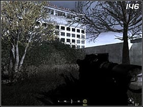 After some time you will get to the building (#146) from which you will be able to shoot Zakhaev - All Ghillied Up - Walkthrough - Call of Duty 4: Modern Warfare - Game Guide and Walkthrough