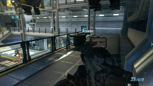 When you enter the military facility and after a while you come across a big, two-story room where the CLAWs are going from right to left, immediately turn right - Mission 11: JUDGMENT DAY - Missions: Challenges - Call of Duty: Black Ops II - Game Guide and Walkthrough