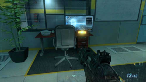 After getting to the lab, take optical camouflage and clear the opposite hall - Mission 02: CELERIUM - Intel - Call of Duty: Black Ops II - Game Guide and Walkthrough