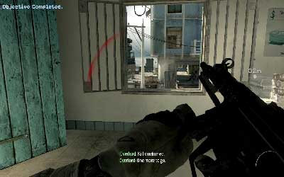 Run to the room on your right and reload at the same time, after that jump on the street through the window - Hit & Run - SpecOps missions - Call of Duty: Modern Warfare 3 - Game Guide and Walkthrough