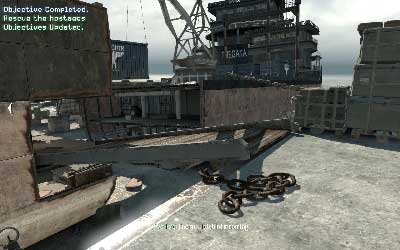 Now back to the beginning of the hangar and run through the exit in front of you - Hit & Run - SpecOps missions - Call of Duty: Modern Warfare 3 - Game Guide and Walkthrough