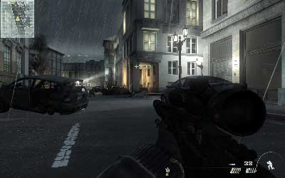 Go along the street and prepare your sight when you be near crossroad - Resistance Movement - SpecOps missions - Call of Duty: Modern Warfare 3 - Game Guide and Walkthrough