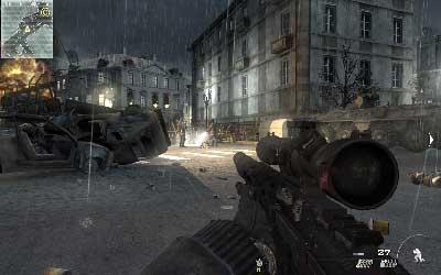 Walk through the square and kill dog and two soldier near the fire camp on the left - Resistance Movement - SpecOps missions - Call of Duty: Modern Warfare 3 - Game Guide and Walkthrough