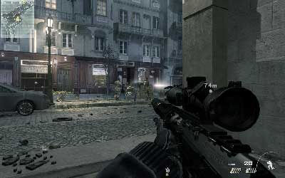 Get downstairs and move to the corridor on the right side and kill another guard - Resistance Movement - SpecOps missions - Call of Duty: Modern Warfare 3 - Game Guide and Walkthrough