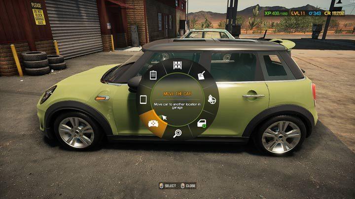 Включите круговое меню, глядя на автомобиль, ожидающий ремонта, и выберите опцию Move - Car Mechanic Simulator 2021: Замена деталей - Основы - Руководство Car Mechanic Simulator 2021