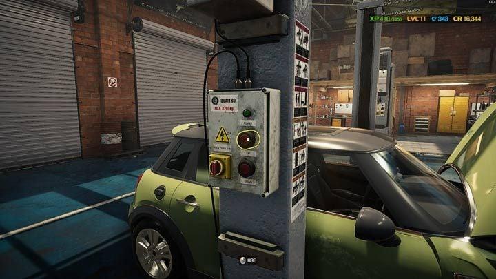 Если вам нужно поработать с подвеской или под двигателем, автомобиль необходимо поднять - Car Mechanic Simulator 2021: Замена деталей - Основы - Руководство Car Mechanic Simulator 2021