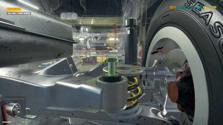 Dont forget the bushings in the rear crossmember - Order 22 - Castor Avalanche | Story orders - Story orders - Car Mechanic Simulator 2018 Game Guide