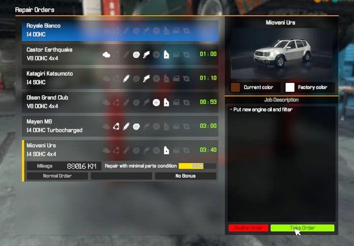 Car mechanic simulator 2018 menu