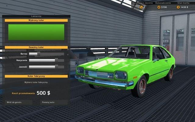 Paintshop technical state diagnostics car mechanic for Car paint simulator