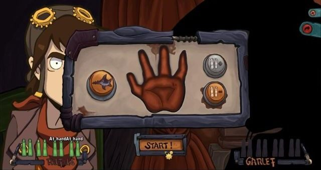 Final move: paper, which is an open palm with all fingers retracted. - Convince Baby Goal - Win a battle with Garlef - Convince Baby Goal - Chaos on Deponia Guide